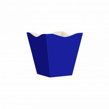 Cachepot Vintage Liso Pequeno 10pc Azul Escuro