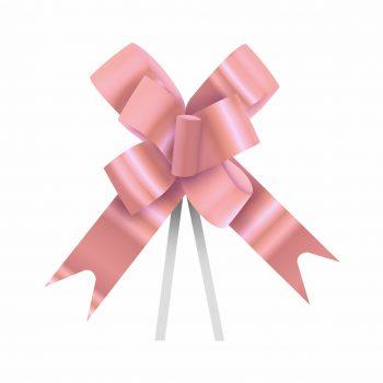 Laço Maxi Laminado 24mmx50cm 10pc Rosé