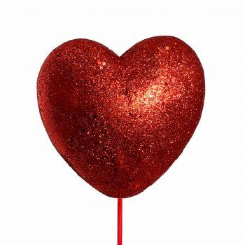 Pick Coração Cheio 15cm 1pc Vermelho