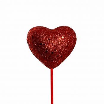 Pick Coração Cheio 08cm 1pc Vermelho
