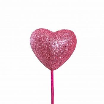 Pick Coração Cheio 06cm 1pc Rosa