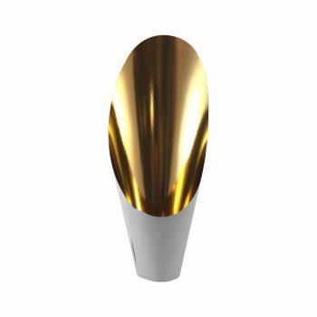 Cover Metalizado Glamour Pote 12 C/ 44cm Altura 06pçs Cinza/Ouro