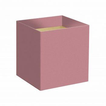 Cachepot Quadrado Liso 14,5cmx14,5cmx15,5cm 10pc Rosé