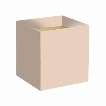 Cachepot Quadrado Liso 14,5cmx14,5cmx15,5cm 10pc Nude
