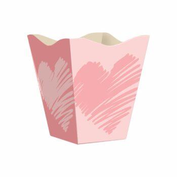 Cachepot Vintage Valentine Grande 10pc Rosa