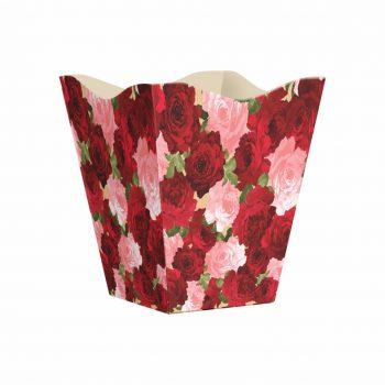 Cachepot Vintage Lady Love Grande 10pc Vermelho/Rosa