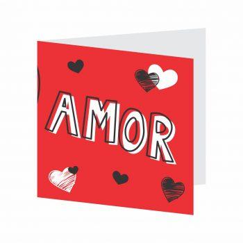 Cartão Valentine 09cmx09cm 10pçs Vermelho