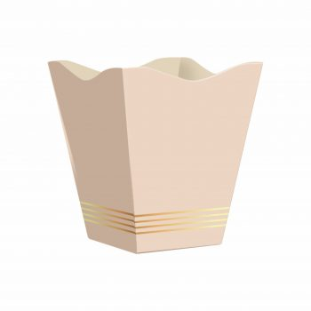 Cachepot Vintage Classic Grande 10pc Nude/Ouro