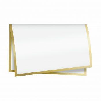 Poli New Classic 67cmx67cm 50fls Branco/Ouro
