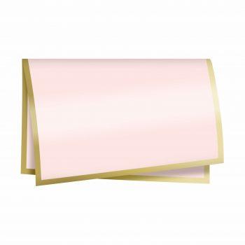 Poli New Classic 67cmx67cm 50fls Rosa/Ouro