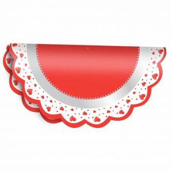 Poli Redondo Valentine 68 50fls Vermelho