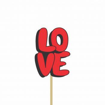Pick MDF Love 90mmx64mm 1pç Vermelho
