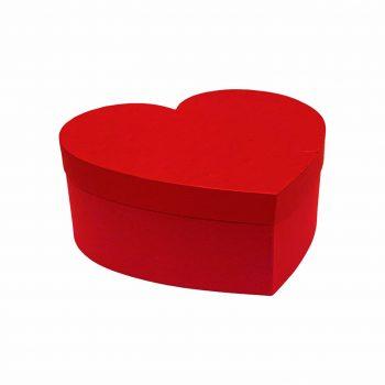 Caixa Rígida Coração 26,5cmx20,5cmx0,9cm Vermelha