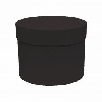 Caixa Rígida Redonda 19,5cmx15cm 1pç Preta