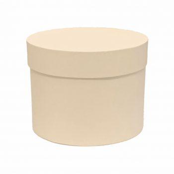Caixa Rígida Redonda 19,5cmx15cm 1pç Off White
