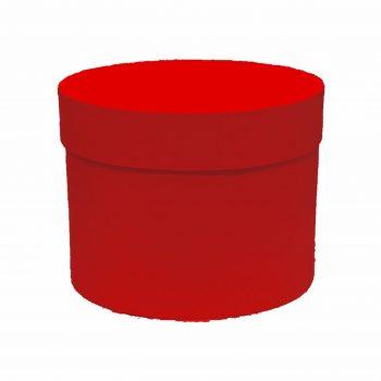 Caixa Rígida Redonda 19,5cmx15cm 1pç Vermelha