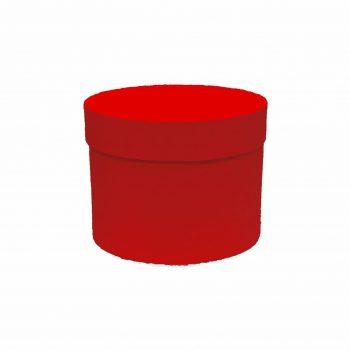 Caixa Rígida Redonda 15,5cmx12cm 1pç Vermelha