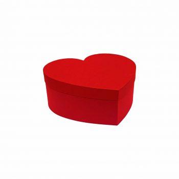 Caixa Rígida Coração 21,5cmx16,5cmx08cm Vermelha