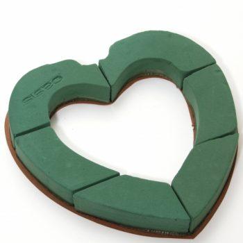 Espuma Floral Coração Vazado Unidade Verde