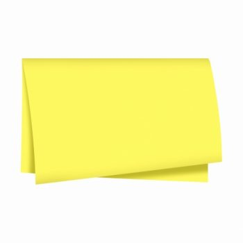 Papel Seda Liso 49cmx69cm 100fls Amarelo Claro