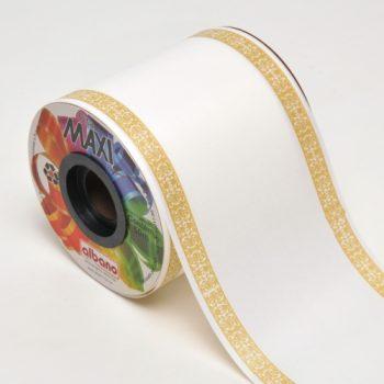 Fita PL Coroa 100mmx50m Branco/Ouro