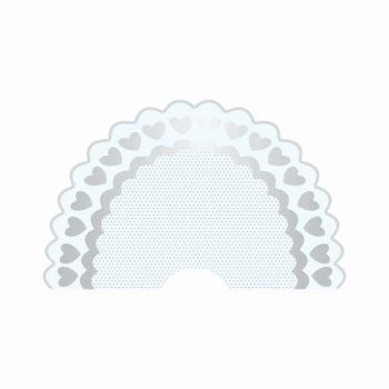 Leque Cuore 50fls Branco