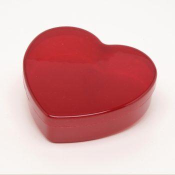 Caixa Acrílico Coração Grande 5cmx16cmx14cm Vermelho