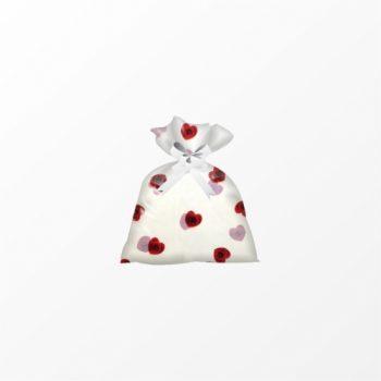 Saco Poli Heart Roses 60cmx90cm 25pc Vermelho