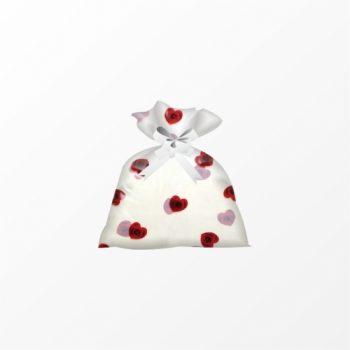 Saco Poli Heart Roses 80cmx90cm 25pc Vermelho