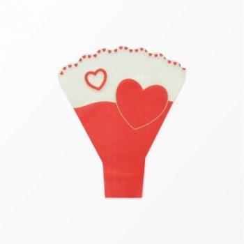Bouquet Taça Love Heart 48cmx42cmx12cm 25pc Vermelho/Ouro