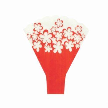 Bouquet Taça Floreada 48cmx42cmx12cm 25pc Vermelho