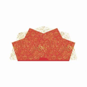 Bouquet Francês Indiano 25fls Vermelho/Ouro