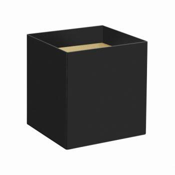 Cachepot Quadrado Liso 14,5cmx14,5cmx15,5cm 10pc Preto
