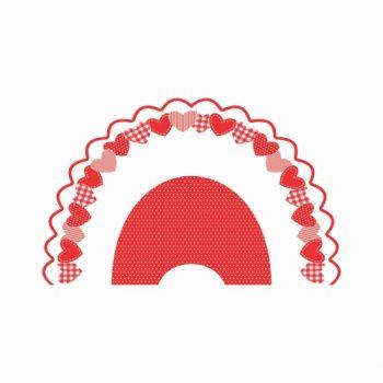 Leque My Love Pequeno 50fls Vermelho/Branco