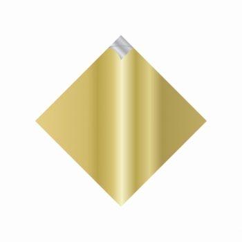 Saco 02 Bocas Pratik Metalizado Color 35cmx35cm 25fls Ouro