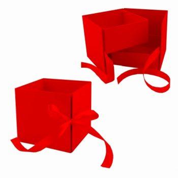 Caixa Love Bombom 12cmx12cmx11cm Vermelha