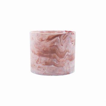 Cachepot Acrílico Marmorizado Pote 11 Rosa