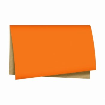 Poli Dupla Face Kraft Color 68cmx65cm 25fls Laranja/Natural