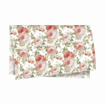 Papel Seda Rose Bloom 49cmx69cm 50fls Branco