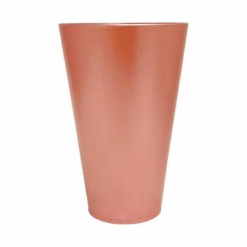 Vaso Acrílico Tulipa Metálico 21cmx13cm Unidade Rosé